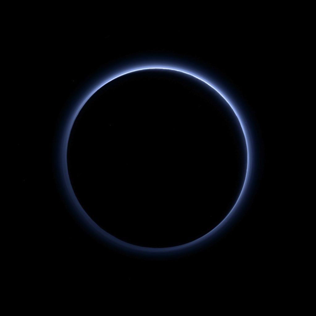 Image: Blue Skies on Pluto Courtesy of NASA