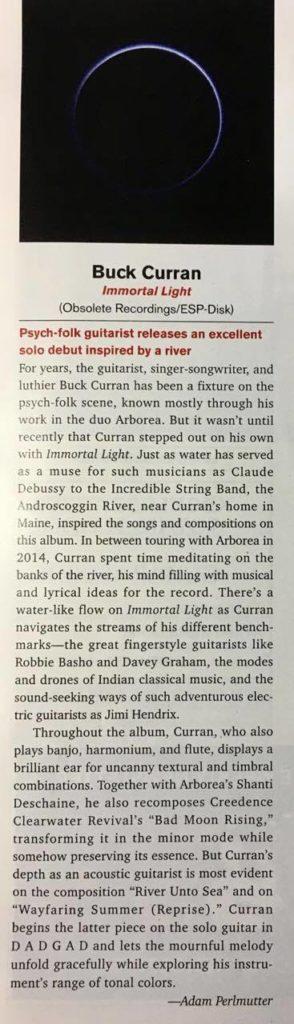 BuckCurran_ImmortalLight_AcousticGuitarMagazine_April017review